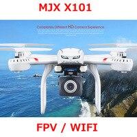 Em Estoque!! MJX X101 Versão Atualizada X101S Quadcopter 2.4G RC zangão/câmera zangão helicóptero do rc 6-axis gyro pode adicionar C4018 (FPV)