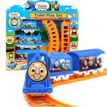 Plastic Thomas Electric Train Tracks Play Set Educational Toy for Kids Children