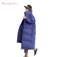 2018 original design slim and loose style long down jacket plus size large parkas warm oversize cold resistant stand collar