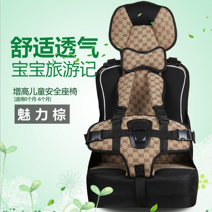 ФОТО Luxury Infant Child Chair Car,5 Point Harness Thick Bottom Kids High Chair Safety Car Seats Kids Car Booster Seat Soft Portable