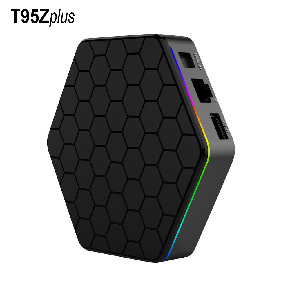 Original T95Z plus Android 7.1 TV Box Amlogic S912 Dual-Band WiFi 4K Resolution Octa-Core CPU 3GB 32GB Storage Smart Set Top Box