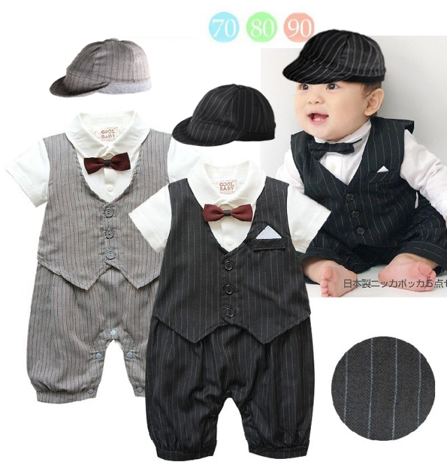 07095096c Free Shipping 3sets/lot Infant Toddler Baby Boy's Formal Wear Tuxedo Rompers  and Caps Set-in Rompers from Mother & Kids on Aliexpress.com | Alibaba Group