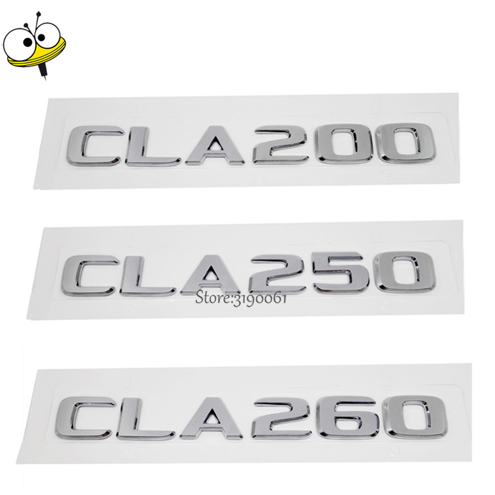New Car Rear Sticker Emblem Badge Decal Car Styling Number Auto Car Accessories For Mercedes Benz CLA Class CLA200 CLA250 CLA260 special car trunk mats for toyota all models corolla camry rav4 auris prius yalis avensis 2014 accessories car styling auto