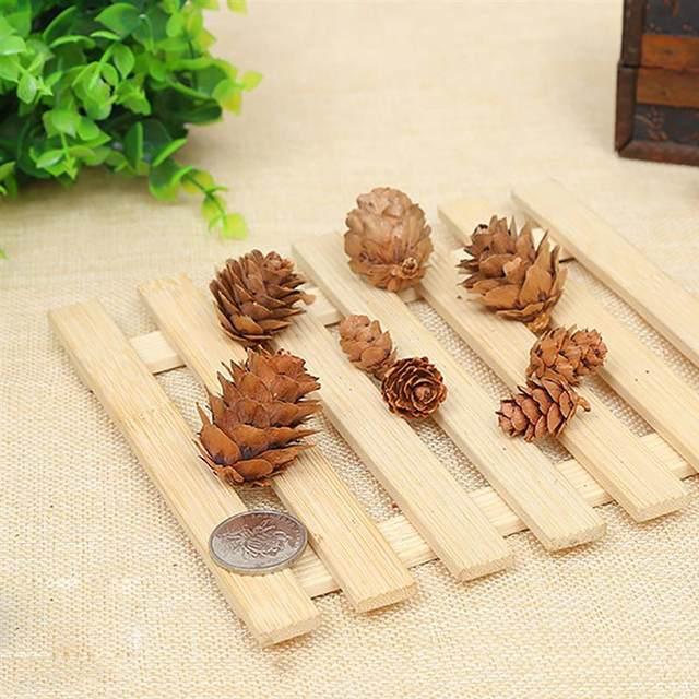 20PCS Wooden Natural Pinecone Christmas Tree Hanging DIY 3D Vivid Pine Cones Ornaments Party Christmas Decor Home Decors 16