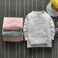 2016 novo bebê sweatershirts camisas de algodão do bebê 0-3 anos roupa das crianças