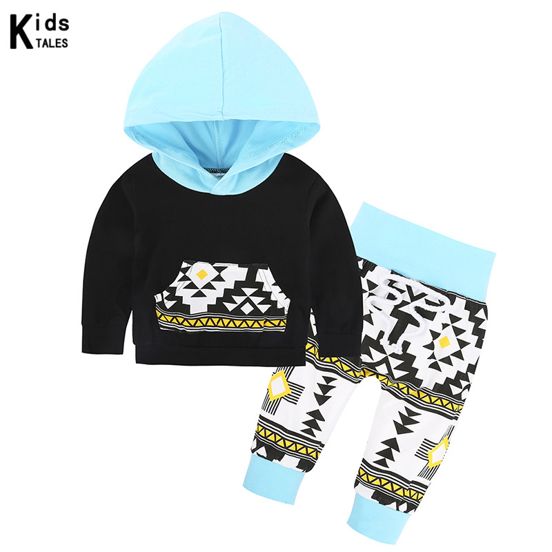 Newborn Baby Set of Clothing for little girls with hood tops+ pants 2 pcs.for boys clothes with long sleeves bebe outfits