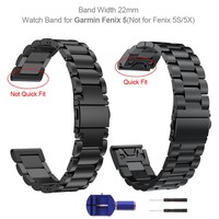 For Garmin Fenix 5 Metal Stainless Steel Band 22mm Replacement Watch Band Strap For Garmin Fenix