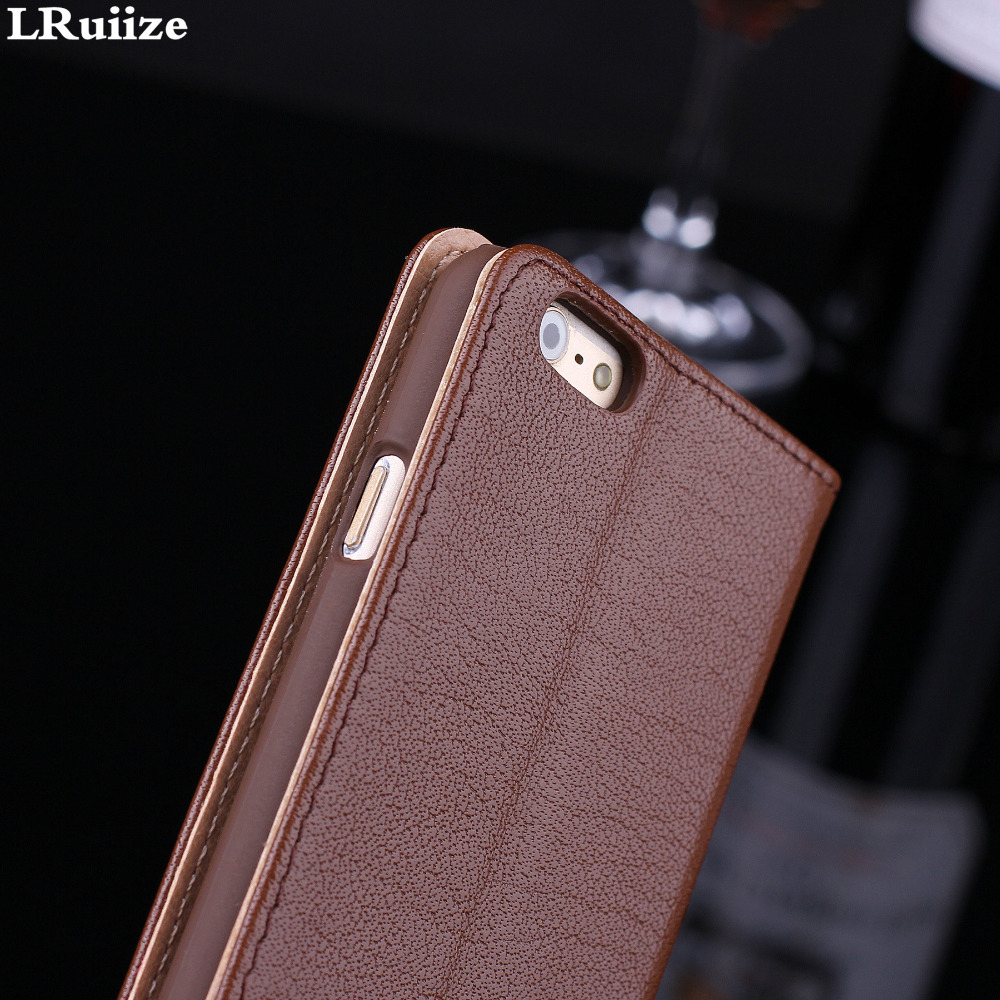 LRuiize iphone 6s 6 Plus Təbii Orijinal İnək Dəri Lüks Ultra - Cib telefonu aksesuarları və hissələri - Fotoqrafiya 6
