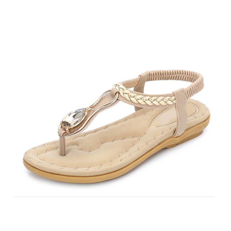 Sandalias De Mujeres Flip Estilo Diamante Playa Zapatos Para Pisos negro Beige Plus Cristal Tamaño Verano Zapatillas Abramenko Las 10 Flop 7q5XSS