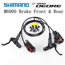 Shimano Deore M6000 Brake Mountain Bikes Hidraulic Disc Brake Mtb Br Bl-m6000 Deore Brake 800/1500 Left & Right система shimano deore m610 170мм ин вал 42 32 24t с кареткой серебристый efcm610c224xs