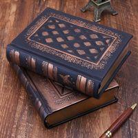 Ретро винтажный дневник блокнот кожаный пустой жесткий чехол блокнот бумажный канцелярский подарок для путешествий