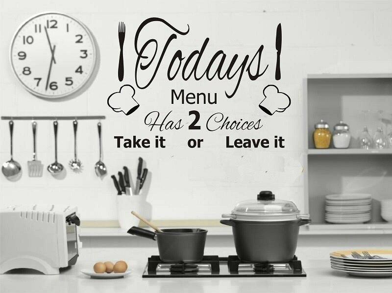 Настенная виниловая наклейка CT19, украшение для кухни и ресторана, идеально подходит для кафе и ресторанов