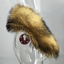 Зима, воротник из натурального меха енота, женские, мужские шарфы, модное пальто, свитер, шарфы, воротник, роскошная шапка, все размеры