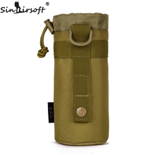 SINAIRSOFT MOLLE System Water Bottle Climbing Bags D-ring Holder Drawstring Pouch Army Durable Travel Hiking Water Bag