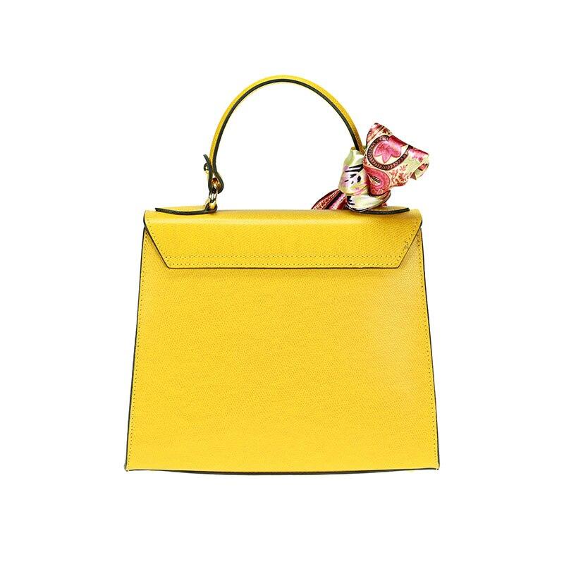 lulu milano Genuine leather made in Italy orange shoulder bag  85123-s 1