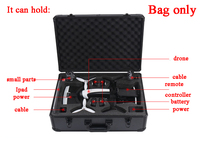 For Parrot Bebop 2 Drone FPV Version AL Metal Shell Storage Bag Handbag Protector Case Carrying Box VR Goggle Suitcase Outdoor