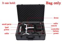 For Parrot Bebop 2 Drone FPV Version AL Metal Shell Storage Bag Handbag Protector Case Carrying Box VR Goggle Suitcase Outdoor