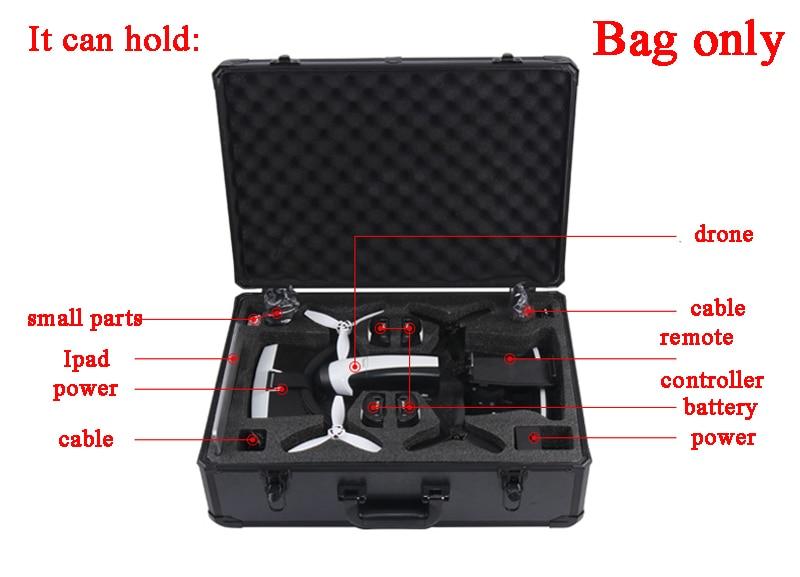 Pour perroquet Bebop 2 Drone FPV Version AL métal coque sac de rangement sac à main étui protecteur boîte de transport VR lunettes valise en plein air