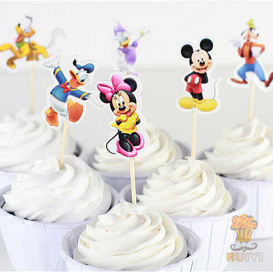 Phenomenal 24Pcs Mickey Minnie Daisy Candy Bar Cupcake Toppers Picks Personalised Birthday Cards Vishlily Jamesorg
