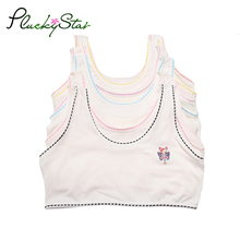 PluckyStar Girls Training Bra White Underwear For Girl Cute Sports Bra Tops For Teens 8-12 Y Adolescente Lingerie One Size KW108