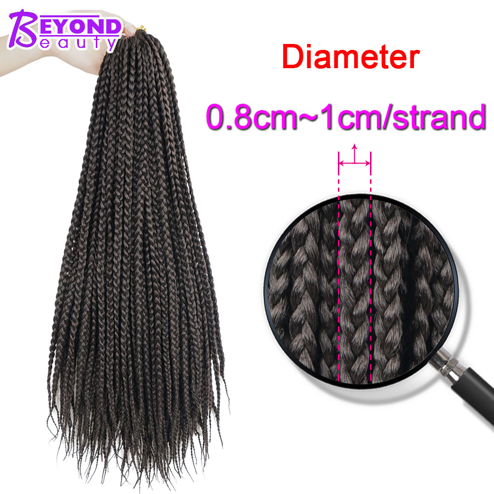 Beyond Beauty Micro Box Braids Crochet Hair Extensions Ombre Black  Synthetic Braiding Hair Crotchet Braids 14 18 24''