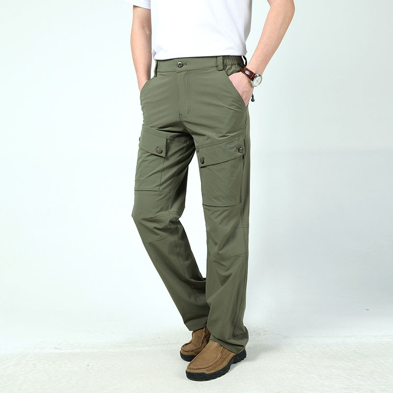 M~3XL 2016 New Spring Mens Plus Size Pants Quick Dry Breathable Long Short Trousers Man Straight Outdoor Waterproof Pantalones (5)