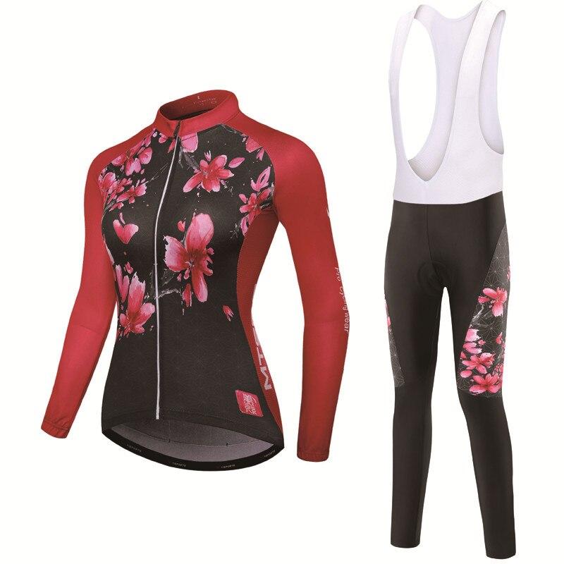 Winter Cycling Set Cycling Clothing Pro Team Bike Downhill Jersey Skinsuit  MTB Clothes Roupas De Ciclismo 428ce55e3