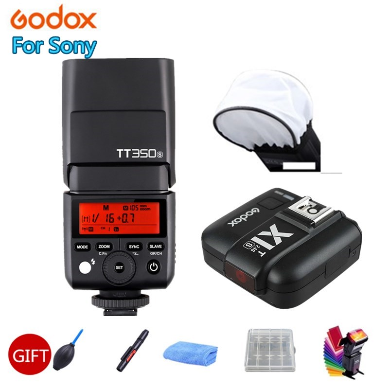 Godox Mini Speedlite TT350S вспышка для камеры TTL HSS GN36 + X1T S передатчик для Sony беззеркальной DSLR камеры A7 A6000 A6500