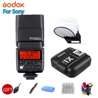 Godox Mini Speedlite TT350S Camera Flash TTL HSS GN36 + X1T S Transmitter for Sony Mirrorless DSLR Camera A7 A6000 A6500