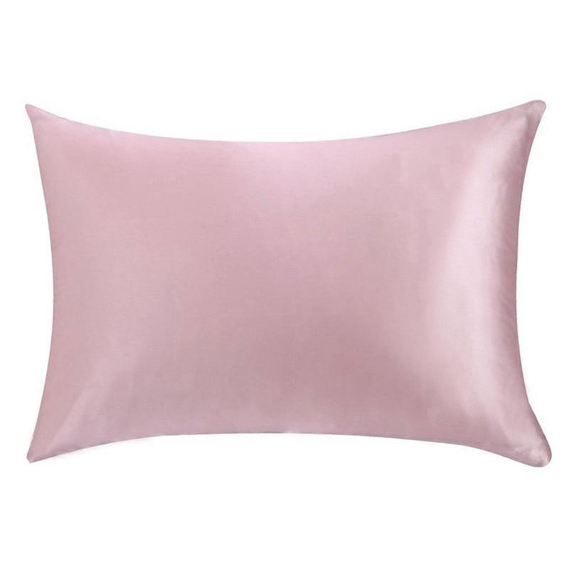 22 Momme Fronha De Seda 100% Seda Amoreira Natureza Pillow Case Capa com Zíper Escondido 5 Cores Saudável Macio Fronha de Cetim