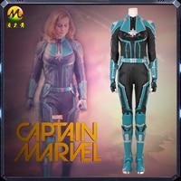 New Carol Danvers Captain Marvel costume Halloween superhero Captain Marvel jumpsuit cosplay Brie Larson Captain custom suit