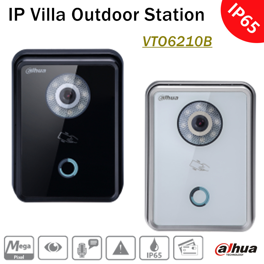 Dahua VTO6210B IP Villa Outdoor Station HD CMOS camera with Super Night vision and Voice indication IP65 Remote intercom by APP батарею для nokia 6210