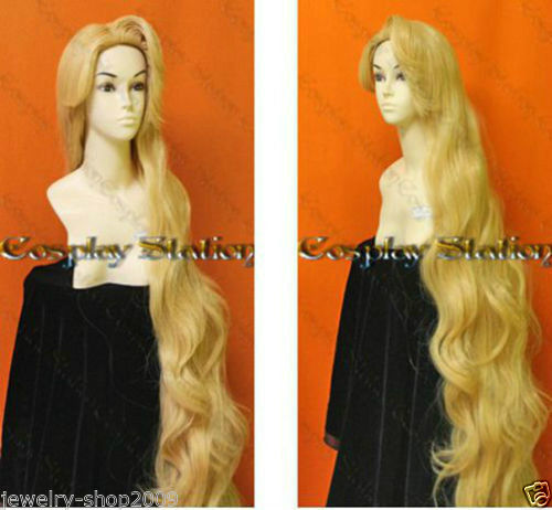 NEW COS Free Shipping >>>>New wig Rapunzel Custom Styled Wig Mixed blonde wig Style wig 1.5M new