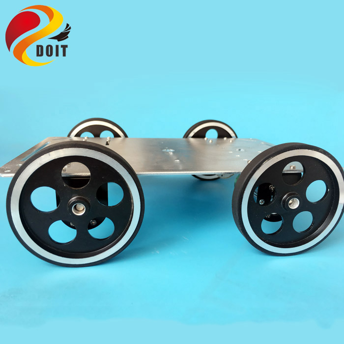 DOIT C600 Metal Robot Car Chassis Smart Wheeled Vehicle Large Load with Four Carbon Brush Motor Remote Control DIY Toy free shipping 3v 0 2a 12000rpm r130 mini micro dc motor for diy toys hobbies smart car motor fod remote control car