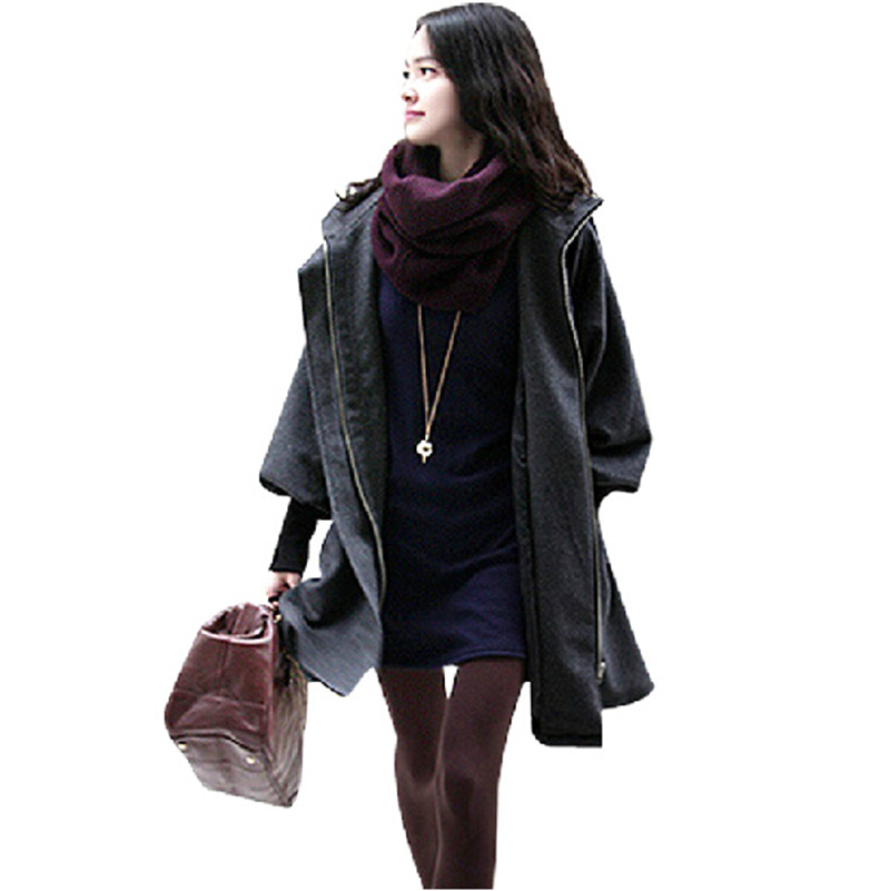 Plus Size 4XL 5XL Winter Woolen Coat Women Lace Up Adjustable Waist Manteau Femme Long Coat Hooded Wool Maxi Coats Parkas C3238