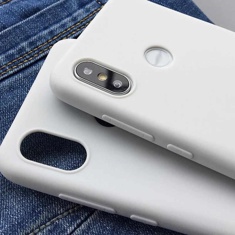 white color For Xiaomi Mi MIX 2S Case soft Back Cover Case Back Case For Xiaomi Mi MIX2 S Protective Full Frosted Cases