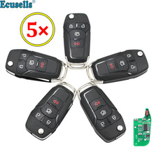 1/4-Buttons HU101 Remote-Key-Keyless Ford Fusion Id:N5f-A08taa Flip 49-Chip Fob 315mhz