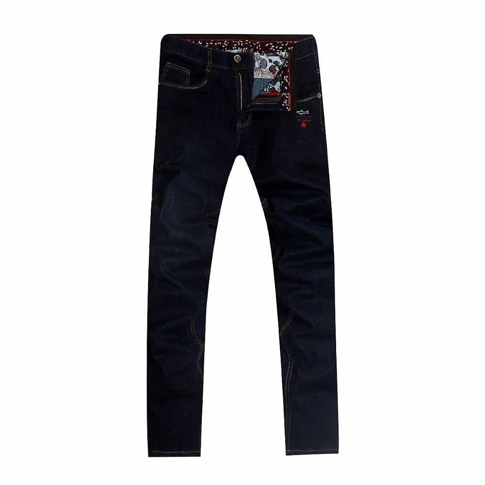 Hommes jeans jeans hommes Coton 2018 nouveau hiver Tace & shark milliardaire haute qualité hommes de jeans Épais tissu broderie hommes jeans