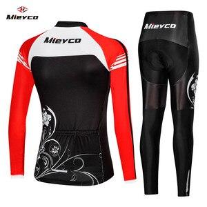 Image 2 - אופני אחיד אופניים בגדי מאיו Ropa ciclismo לאישה רוכב אופניים Mieyco ארוך שרוול רכיבה על אופניים בגדי ג רזי סט נשים