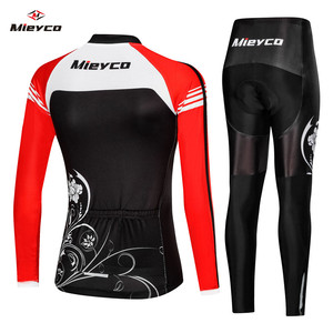 Image 2 - Uniforme da bicicleta roupas maillot ropa ciclismo para mulher ciclista mieyco manga longa camisa de ciclismo conjunto feminino