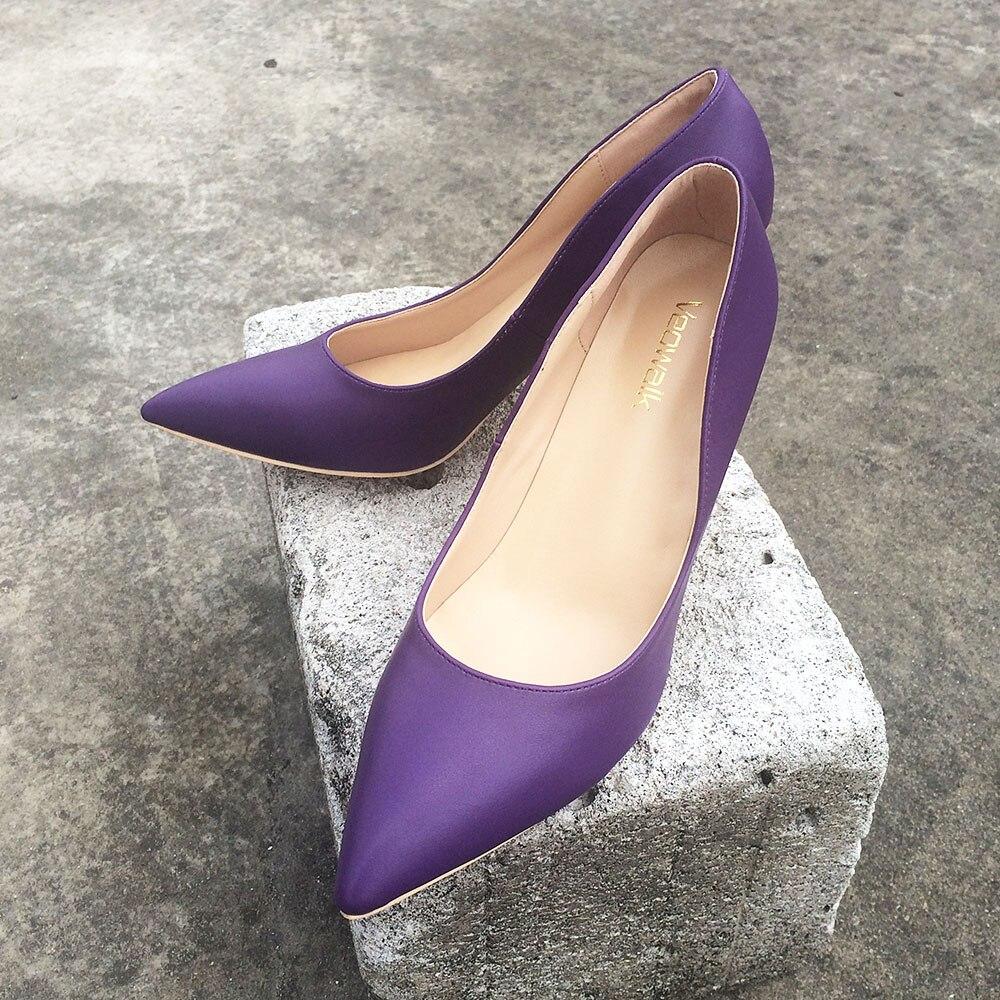 Base Heels 8cm Talons 12cm Super Mariage De Heels Slip partie Sandales Pompes Violet Marque Microfibre purple Chaussures Personnalisé Haute Sur Veowalk Hauts Purple Femme 10cm awn7gRxHq