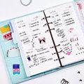2017 Ola Dokibook 6 Hoyos de Hojas Sueltas de Cuaderno A5 y A6 Espiral Planificador Diario Páginas Interiores Plan Semanal Mensual Matching Filofax