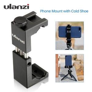 Image 1 - Ulanzi Iron Man ST 2s aluminiowy smartfon statyw do montażu na statywie Adapter pionowy do iPhone X 8plus Samsung mobilny statyw