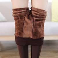 New Autumn And Winter Fashion Women S Plus Cashmere Tights High Quality Knitted Velvet Tights Elastic