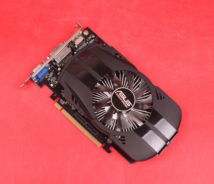 Asus GTX-750TI-OC-2GB GTX750TI GTX 750TI 2G D5 DDR5 128 Bit PC Desktop Graphics Cards PCI Express 3.0 lan baoshi сапфир rx550 2g d5 platinum edition oc 1206mhz 7000mhz 2gb 128bit gddr5 dx12 независимой игровой графики