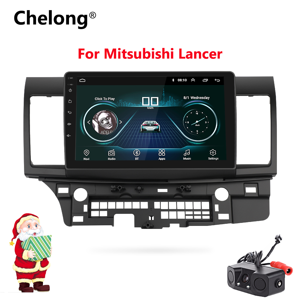 10.2 Android 8.1 Car GPS Player Navi Radio for Mitsubishi Lancer 10 Galant with 1G+16G Quad Core NO dvd Radio Multimedia stereo