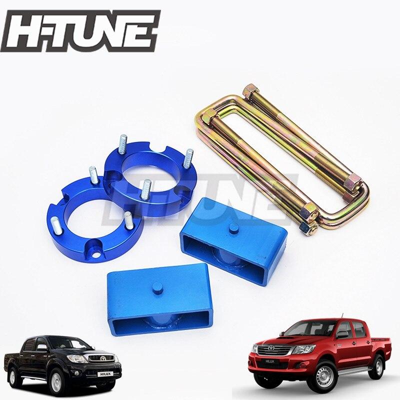 H-TUNE 4x4 Accesorios 32mmフロントストラットスペーサー51mmリアサスペンションブロックリフトキット4WD for Hilux Vigo SR 5 SR 6 05-14リフトキットトヨタハイラックスrevo