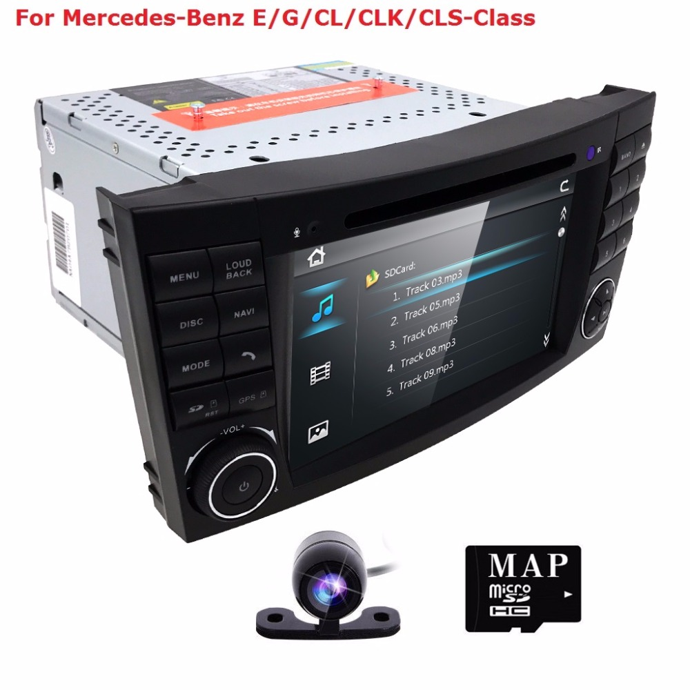 2Din CarDVD GPS for Mercedes Benz w211 2002 2009 Iran 2003 2011 E Class CL with DVD player multimedia Radio Audio navigation CAM