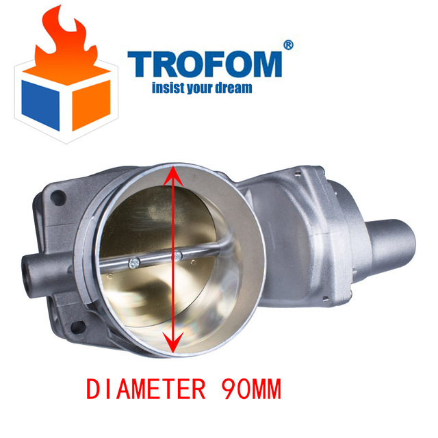US $65 11 15% OFF|12605109 Gold LS3 LS7 L99 90mm Throttle Body Assebly For  Chevrolet Corvette Camaro SS Z06 G8-in Throttle Body from Automobiles &