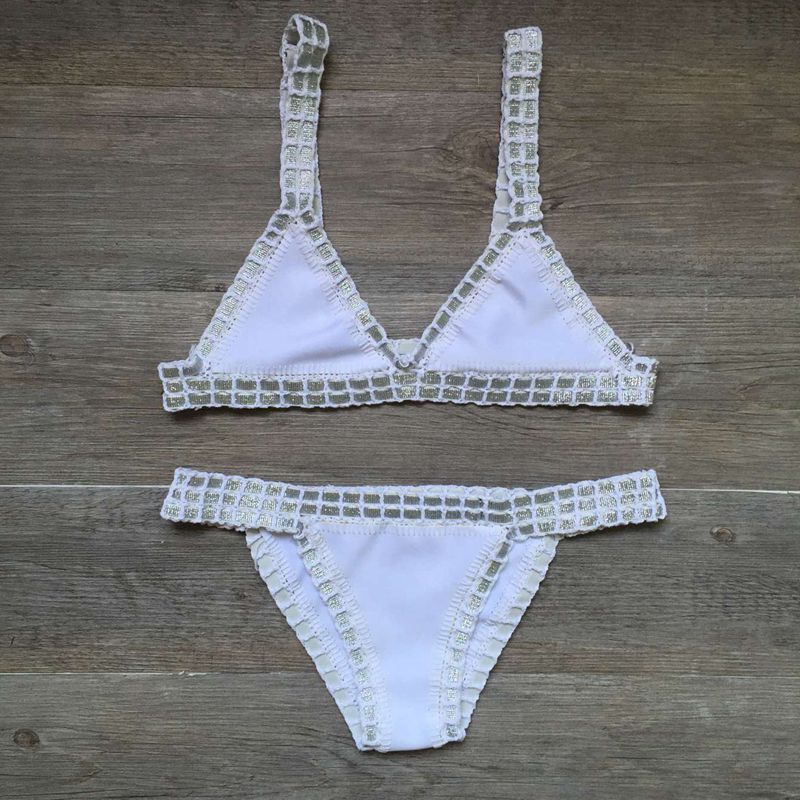 corchet swimsuit bikinis women's swimming suit Sexy bandage brazilian bikini 2019 swimwear women bathing suit biquini 120